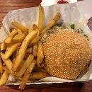 mushroom beef burger $14.90