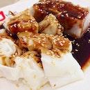 鸳鸯:猪肠粉+芋头糕