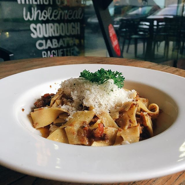Pappardelle with beef ragu.
