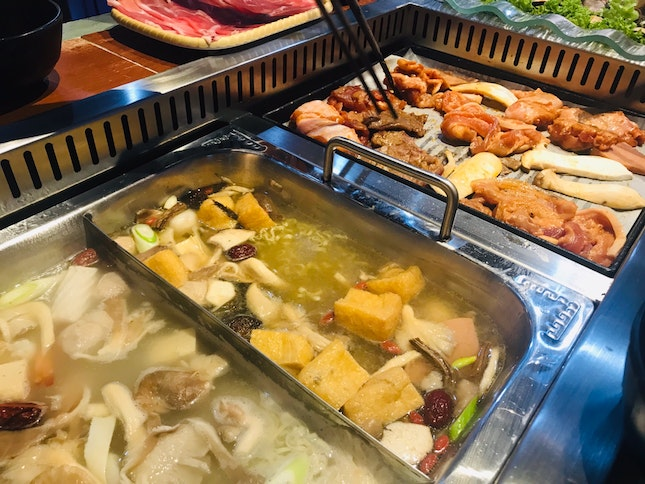 Barbecue and Hotpot (Steamboat) Restaurant at Bugis Cube