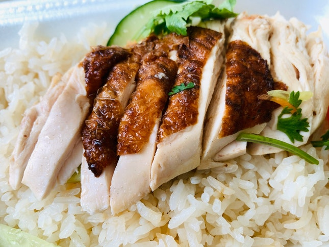 Boneless Roast Chicken Rice