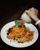 Fortune 18 Yusheng [$23.90 for dine in & $36.90 for take away]  Halal certified.