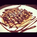 Chocolate and Peanut Butter Pizza - Max Brenner, Singapore