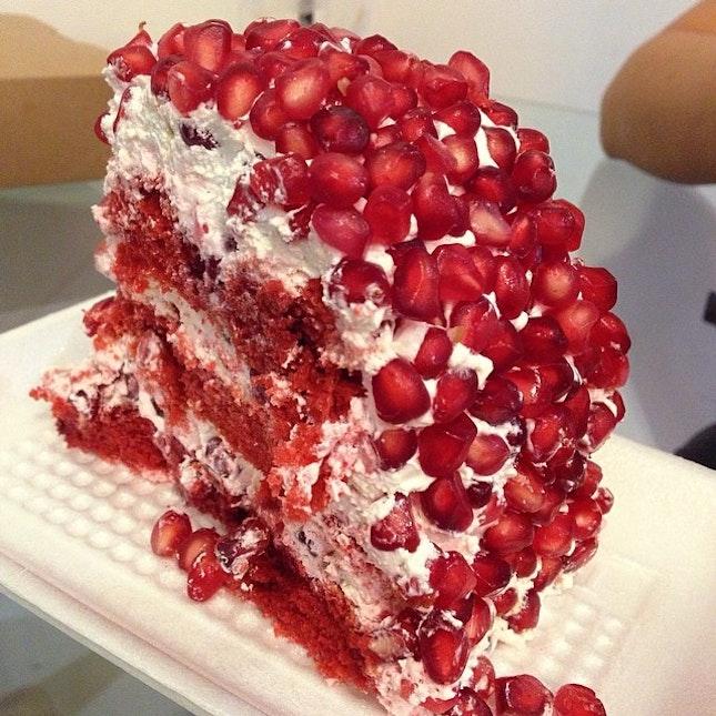 Pomegranate cake.