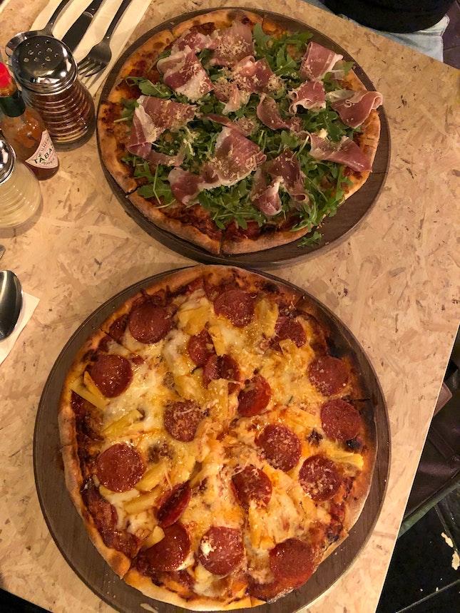 Parma Ham & Sex On The Beach Pizza