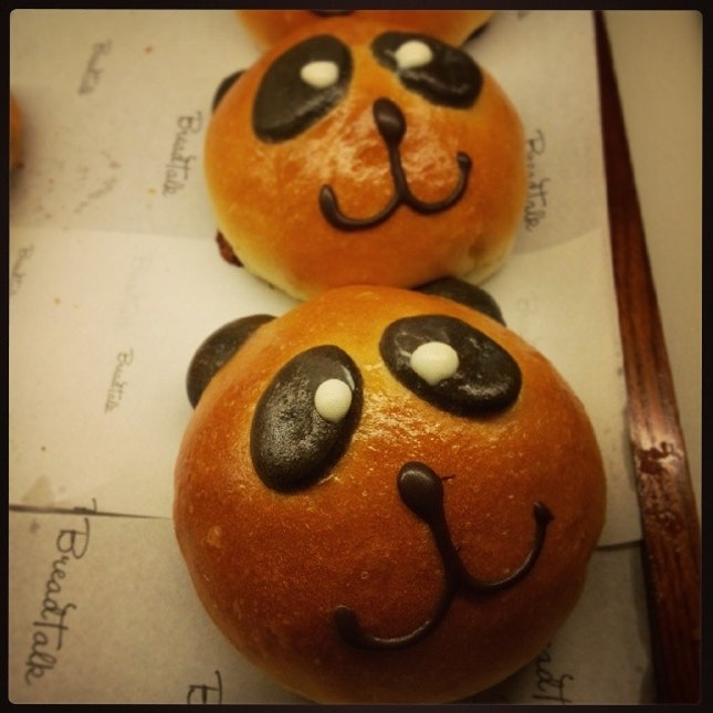 Panda bear bread at BreadTalk
