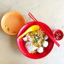 Fishball Noodles with extra noodles $3...