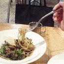 #throwback to the trio #mushroom #spaghetti $20.
