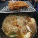 Prawn Noodles with Prawn Paste Pork Rib