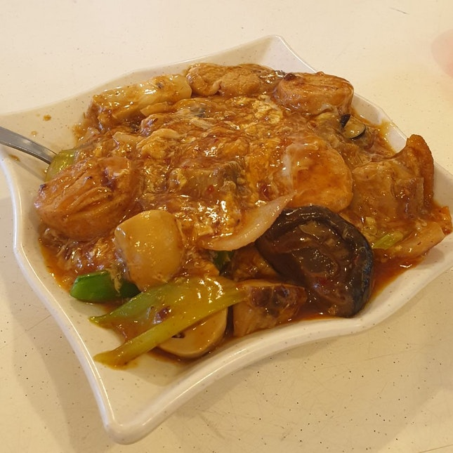 Braised Tofu with Vegetables ($10)