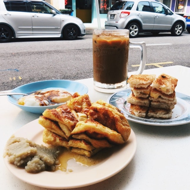 Crispy Thin Toast With Kaya