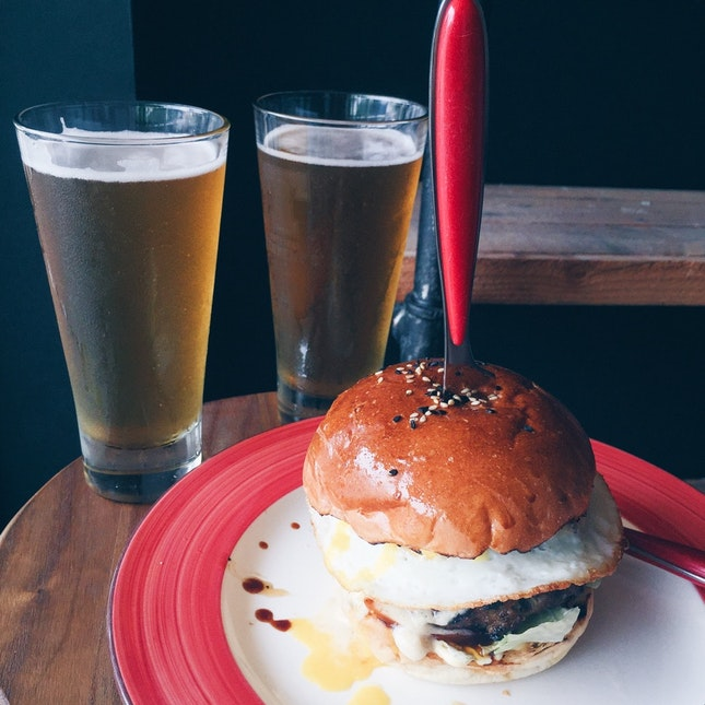 For Beer-Infused Mains in Novena
