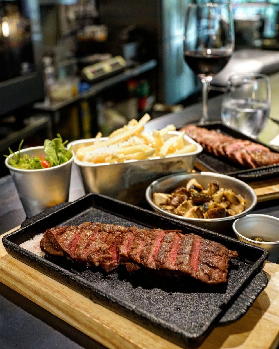 For Tasty Steaks in Serene Centre