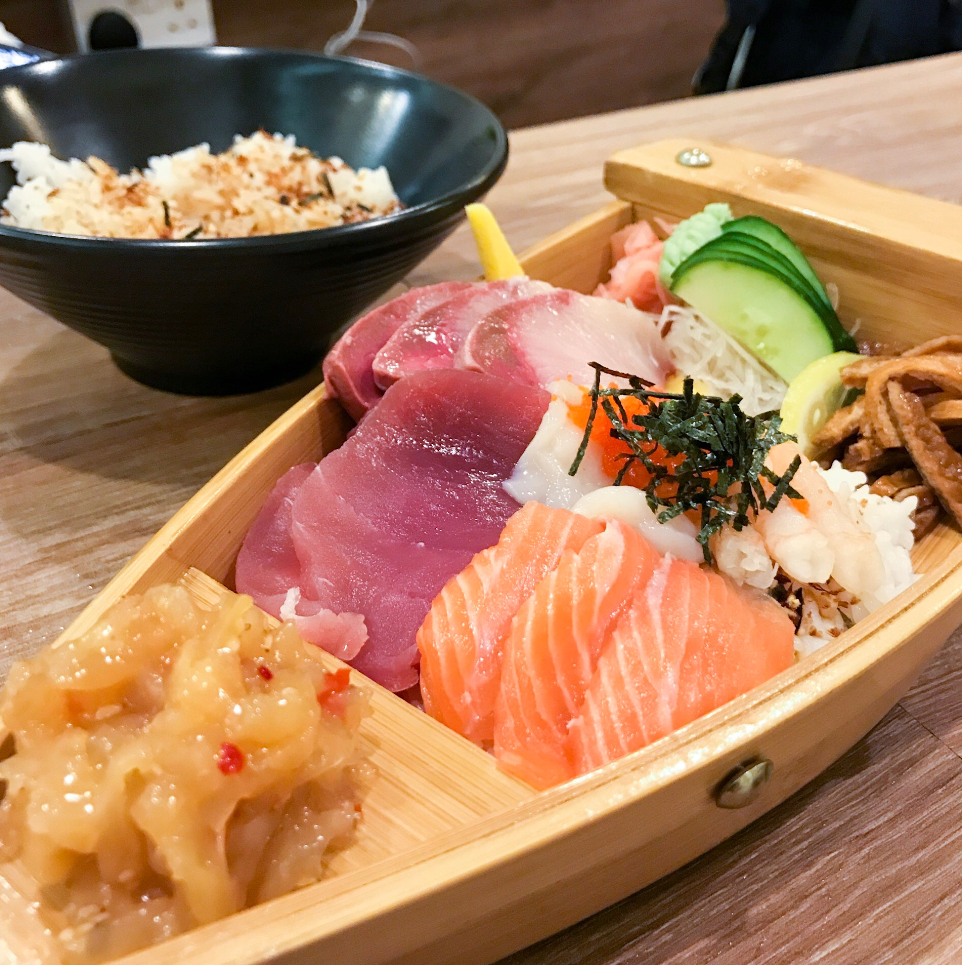 For Sashimi Rice Bowls in Town