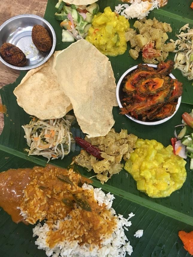 For Belly-Filling Banana Leaf Rice Meals