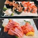 For 1-for-1 Salmon Sashimi (save ~$22)