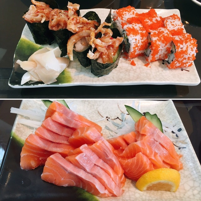 For 1-for-1 Salmon Sashimi (save ~$22)