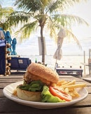 [Coastes Sand Bar] Cheese Beef Burger with a generous side of fries and salad for $22!