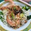 Big Prawn Gan Lau Mian (Dry Ban Mien, $7)