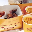 The Fried Chicken taste of Australia @countrychickensg Crispy skin with tender juicy meat minus the grease .