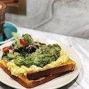 Avocado and Egg Toast @jabcoffeeco .