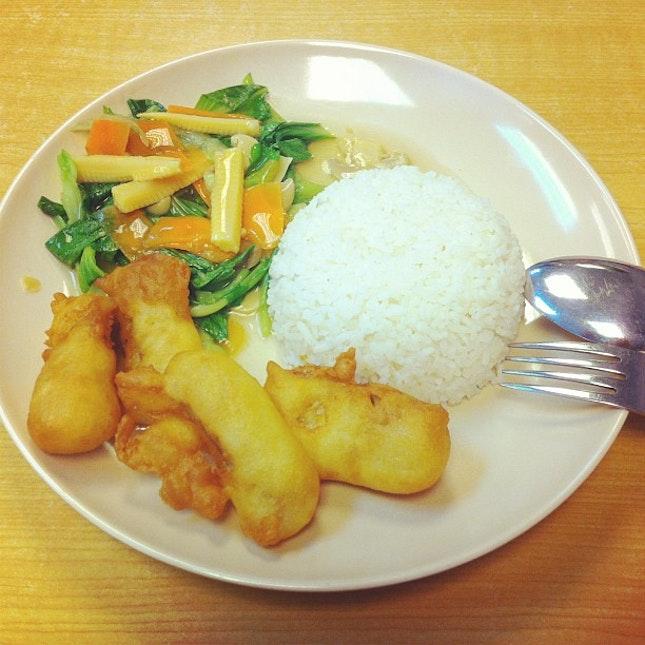 fry prawn rice