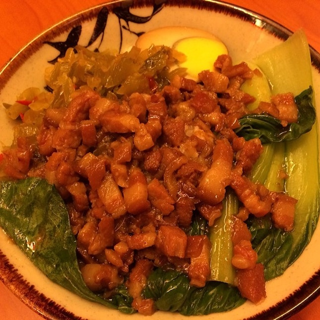 never miss out on a braised pork rice in a Taiwanese eatery!