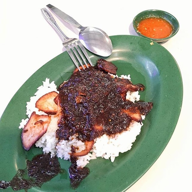 Char Siew Rice from Lau Phua Chay Authentic Roasted Delicacies  Each piece of char siew in this char siew rice was tasty, being lean and tender!