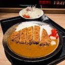 Rosu Katsu Curry Set  The deep fried pork loin cutlet here was crispy and well-breaded, ensuring the meat within retains its juiciness, that was best had with the thick and slightly sweet curry!