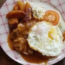 Chicken Chop + 2 Eggs
