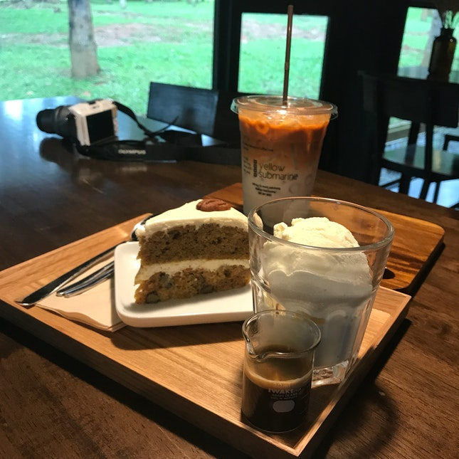 Carrot Cake | Affogato | Thai Iced Milk Tea