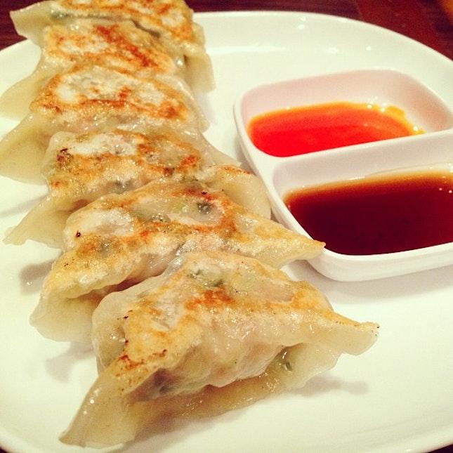 Yaki Gyoza 🍴☺ #gyoza #dumplings #food #foodie #foodporn #foodpics #foodspotting #foodforfoodies #yummy #yum #sgfood #sgig #instafood #instasg #singapore #instagram