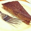Last night's supper - IKEA's dark chocolate cake.