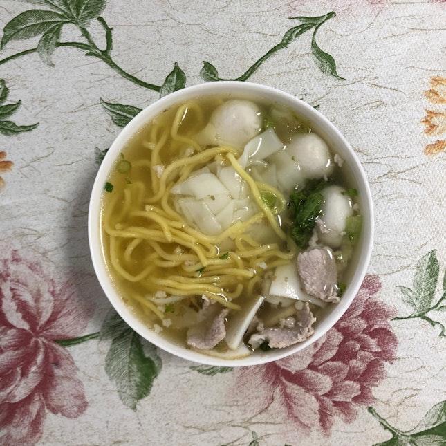 Fishball Kway Teow Soup