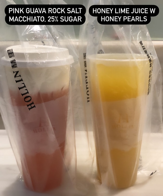 Pink Guava Green Tea R.S.M. & Honey Lime Juice W Honey Pearls