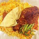 Fat kids strike again with dinner - Chicken Nasi #Briyani - with my favourite Esther!