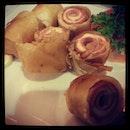 #ham & #cheese crispy roll