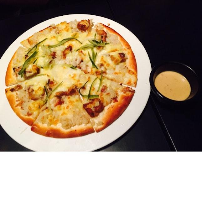Chicken Rice Pizza