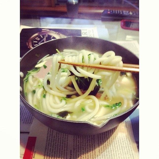 Satisfying homemade Udon 🍜 craving accomplished!