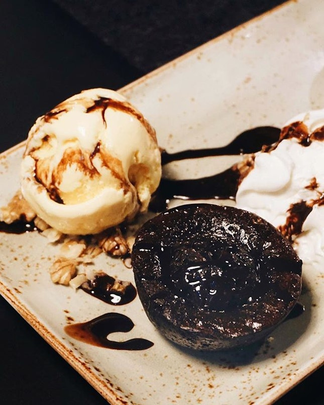 for the diner we were at, I was expecting some decent molten chocolate cake (and $12 after all) yet this one was disappointing w a solid core.