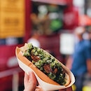@beyondmeat food truck is back outside @grandhyattsing until tomorrow, serving very delicious plant-based sausage hot dogs at an introductory price of $8 nett.
