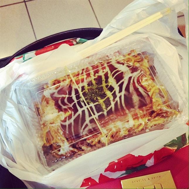 Modanyaki With Japanese Sauce