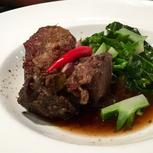 3-hours Slow Braised Beef Shin With Baby Bokchoy & Brown Sauce