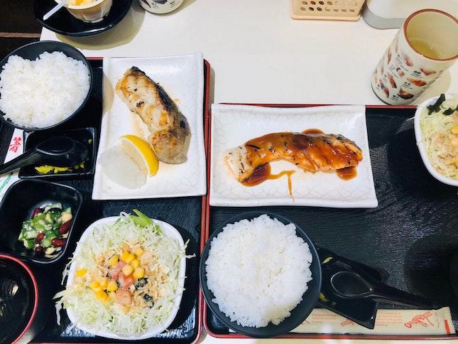 Shioyaki Fish Set & Teriyaki Salmon Set