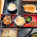 Salmon Okowa Chicken Saikoyo Set And Scallop Okowa Shio Salmon Shokado Set
