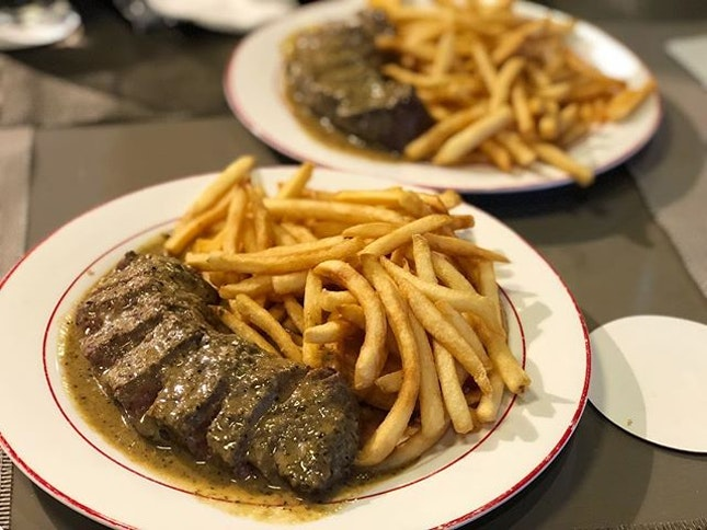 L'entrecote Steak ($34.90) ⭐️ 3.5/5 ⭐️ 🍴1-1 with #burpplebeyond makes this steak worth-it but doubt we would fork out full price.