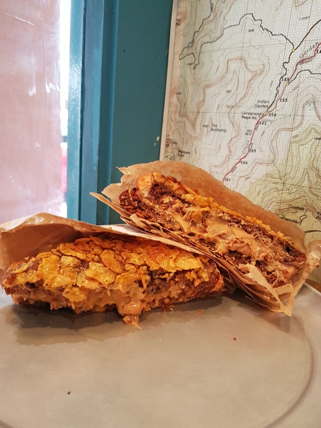 upgraded pbj sandwich