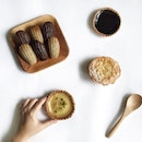 Snacking on Delifrance's new tarts with a cup of coffee.
