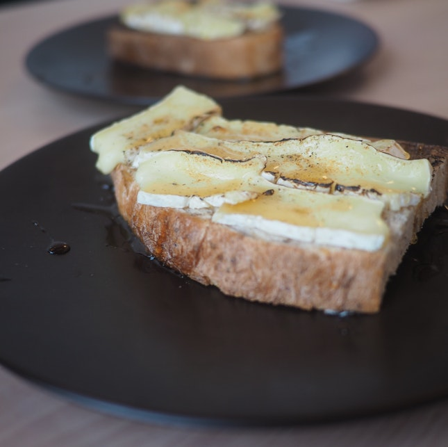 Grilled Camembert Toast, Rosemary Honey ($9)