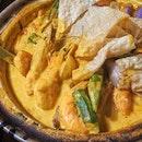 Curry Assam Tiger Prawns ($28.00)